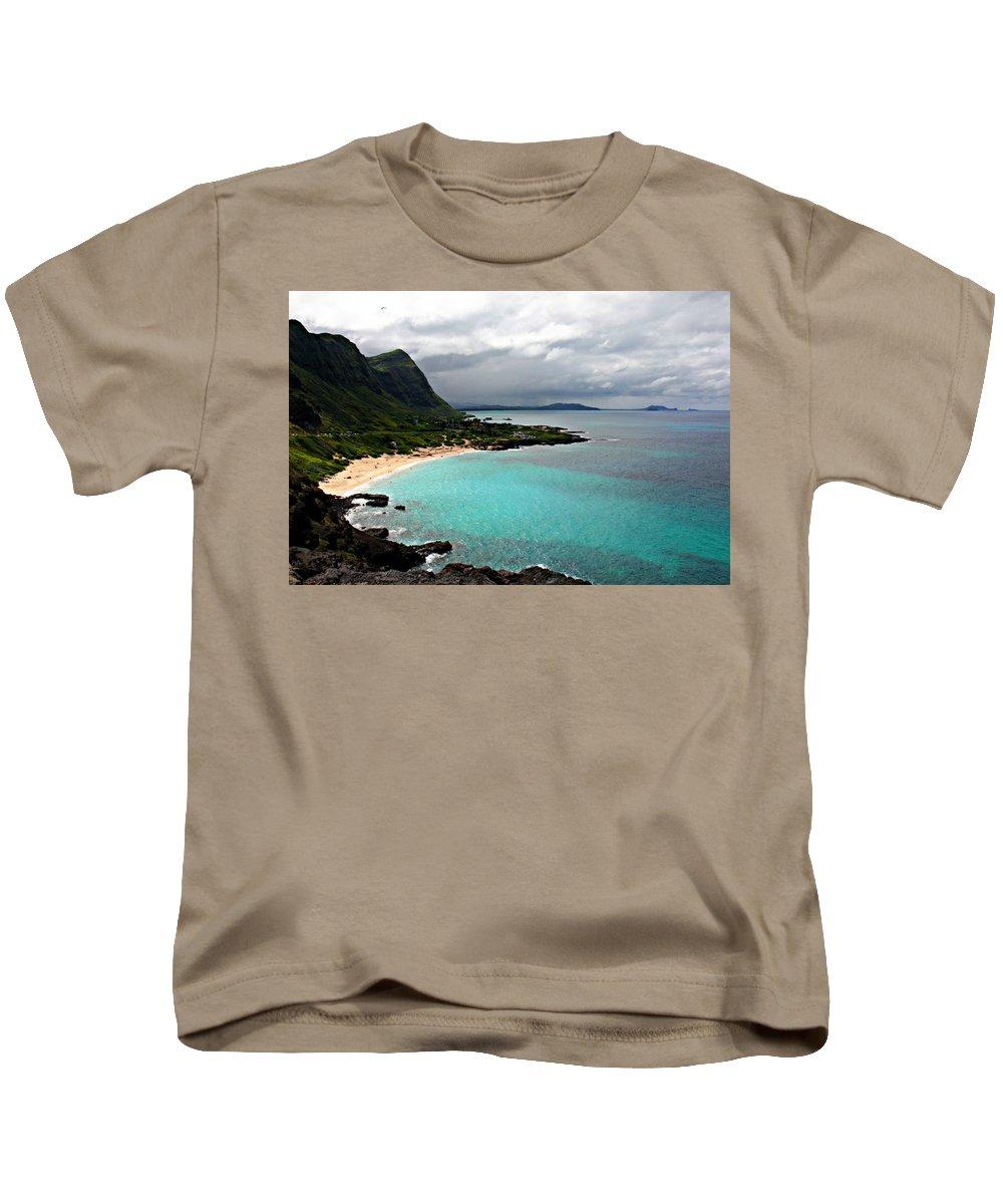 Makapu'u Beach Kids T-Shirt featuring the photograph Makapu'u Beach by Stacy Egnor