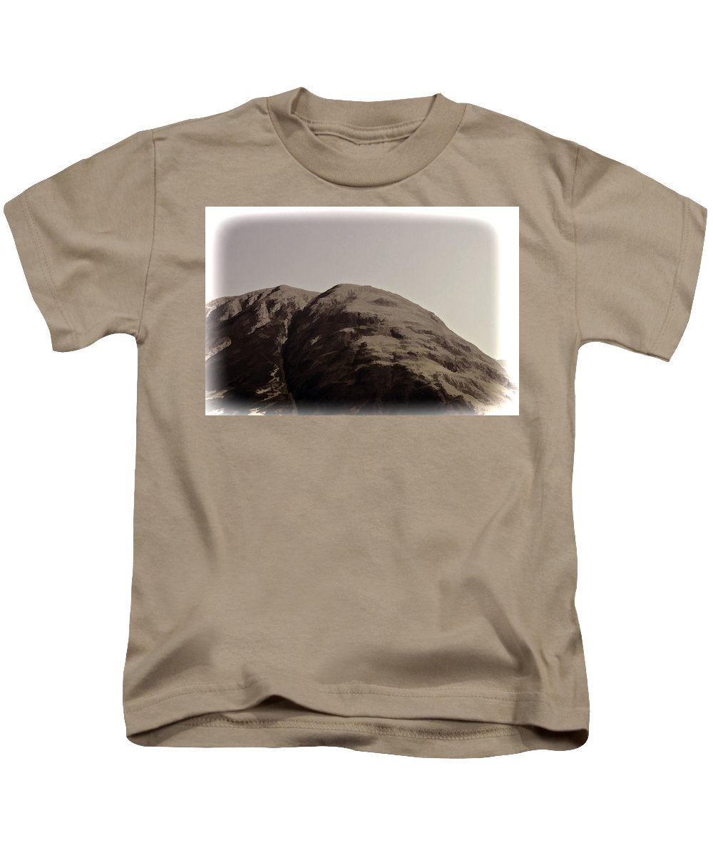 Blue Sky Kids T-Shirt featuring the photograph Rocky Hill In The Scottish Highlands by Ashish Agarwal