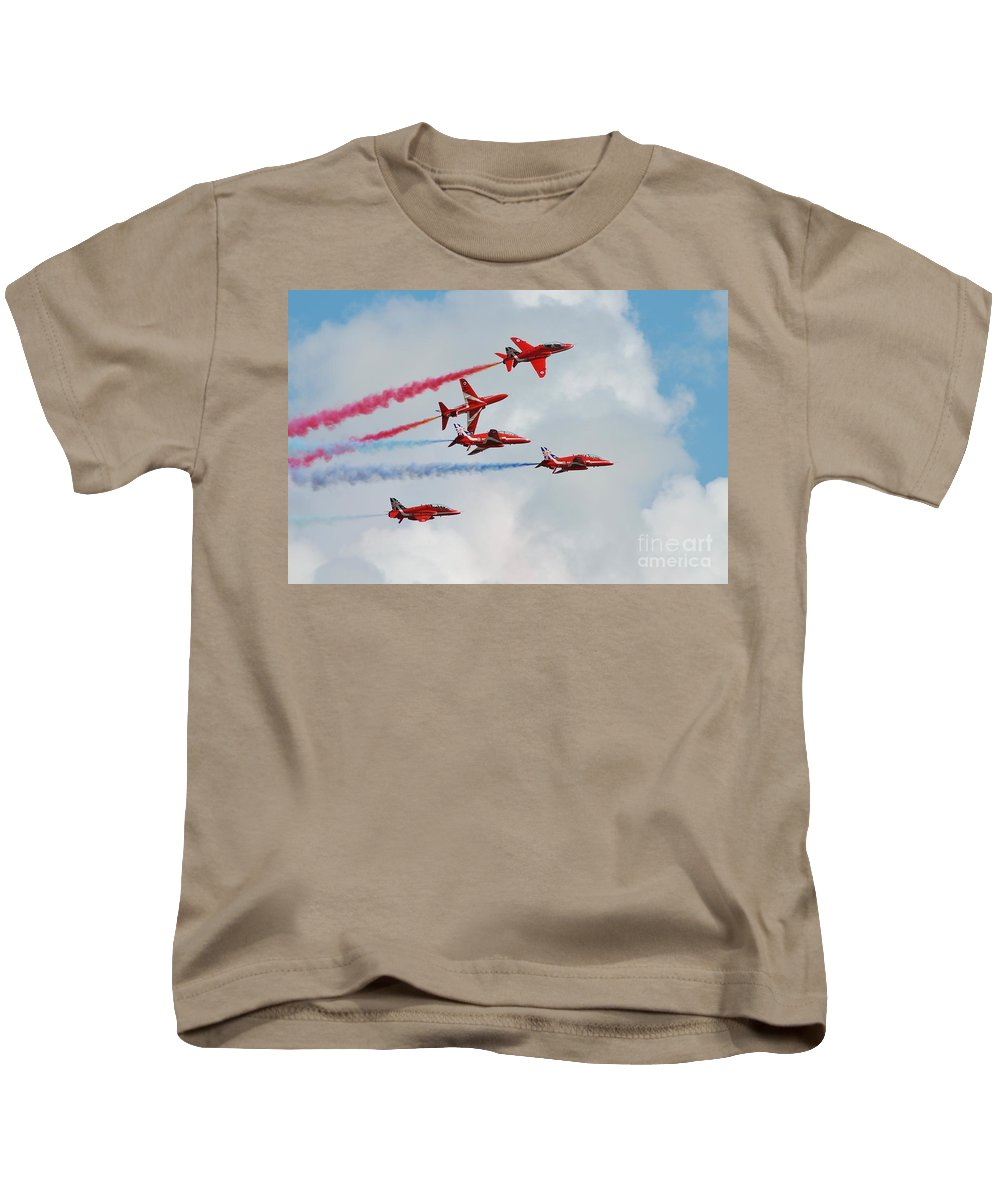 Wing Kids T-Shirt featuring the photograph The Red Arrows by David Fowler