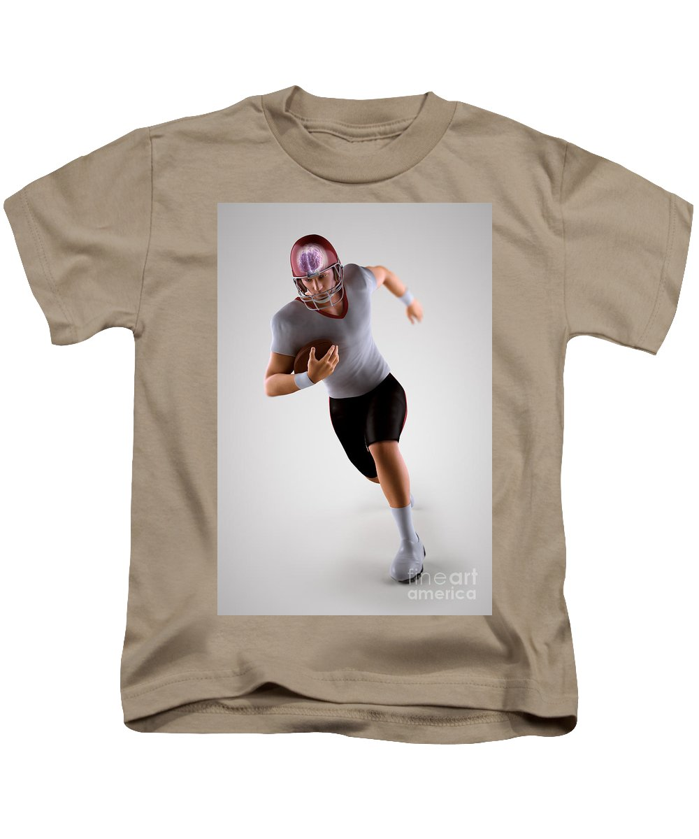 American Football Player Kids T-Shirt featuring the photograph American Football Player by Science Picture Co