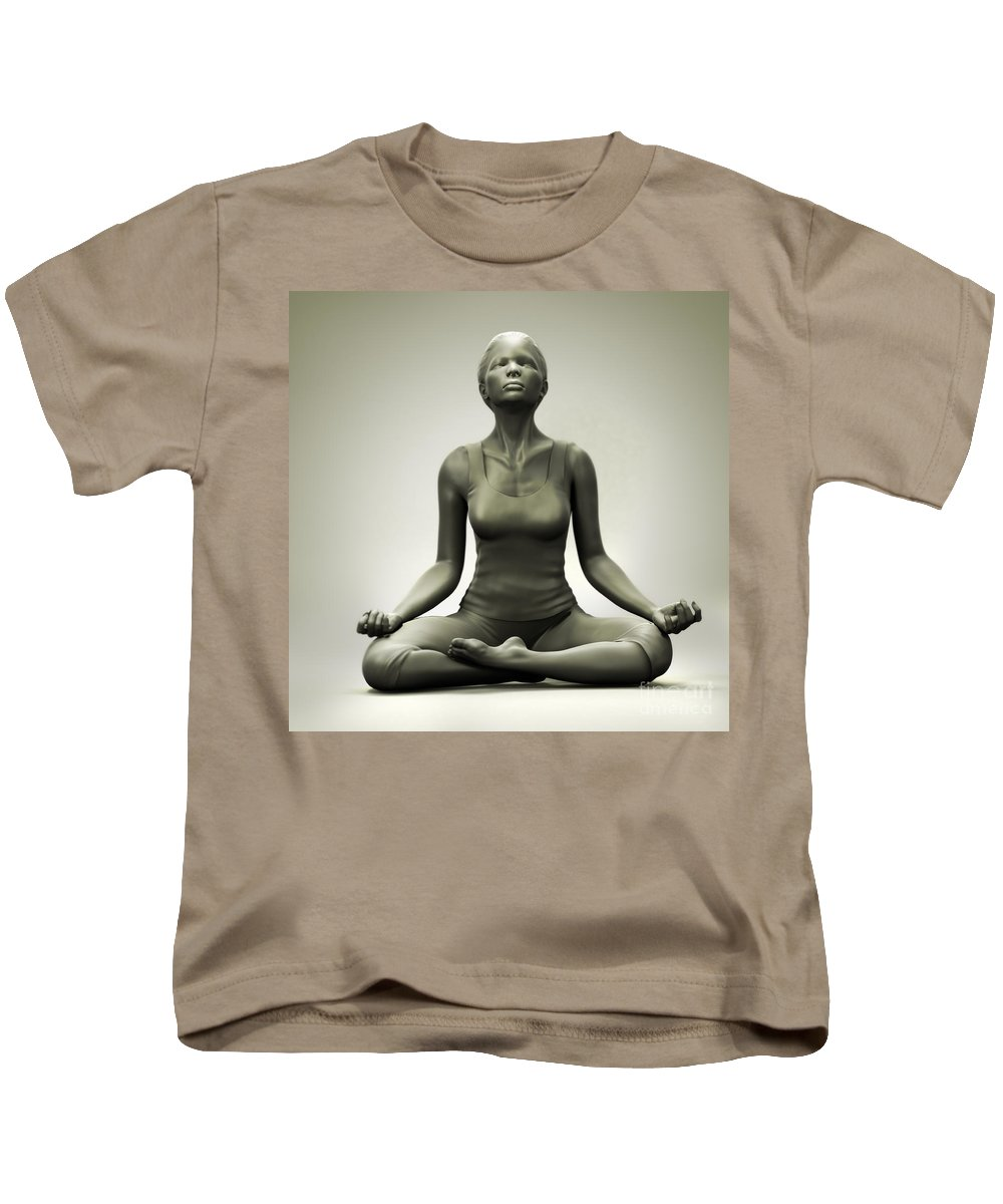 Well-being Kids T-Shirt featuring the photograph Meditation Pose by Science Picture Co