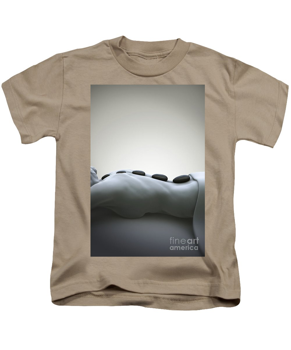 Biomedical Illustration Kids T-Shirt featuring the photograph Stone Therapy by Science Picture Co