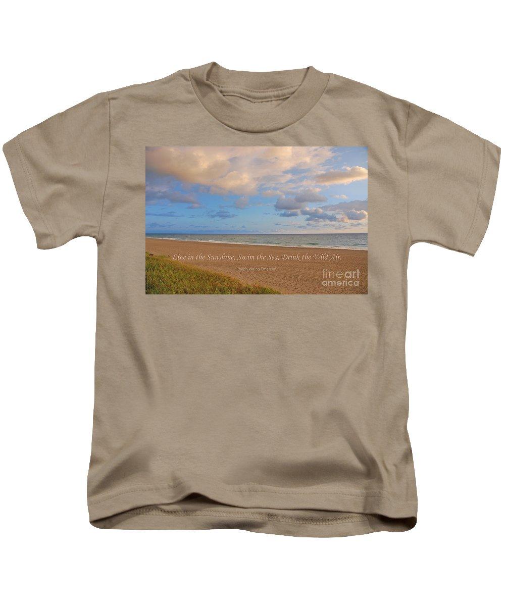 Ralph Waldo Emerson Kids T-Shirt featuring the photograph 199- Ralph Waldo Emerson by Joseph Keane