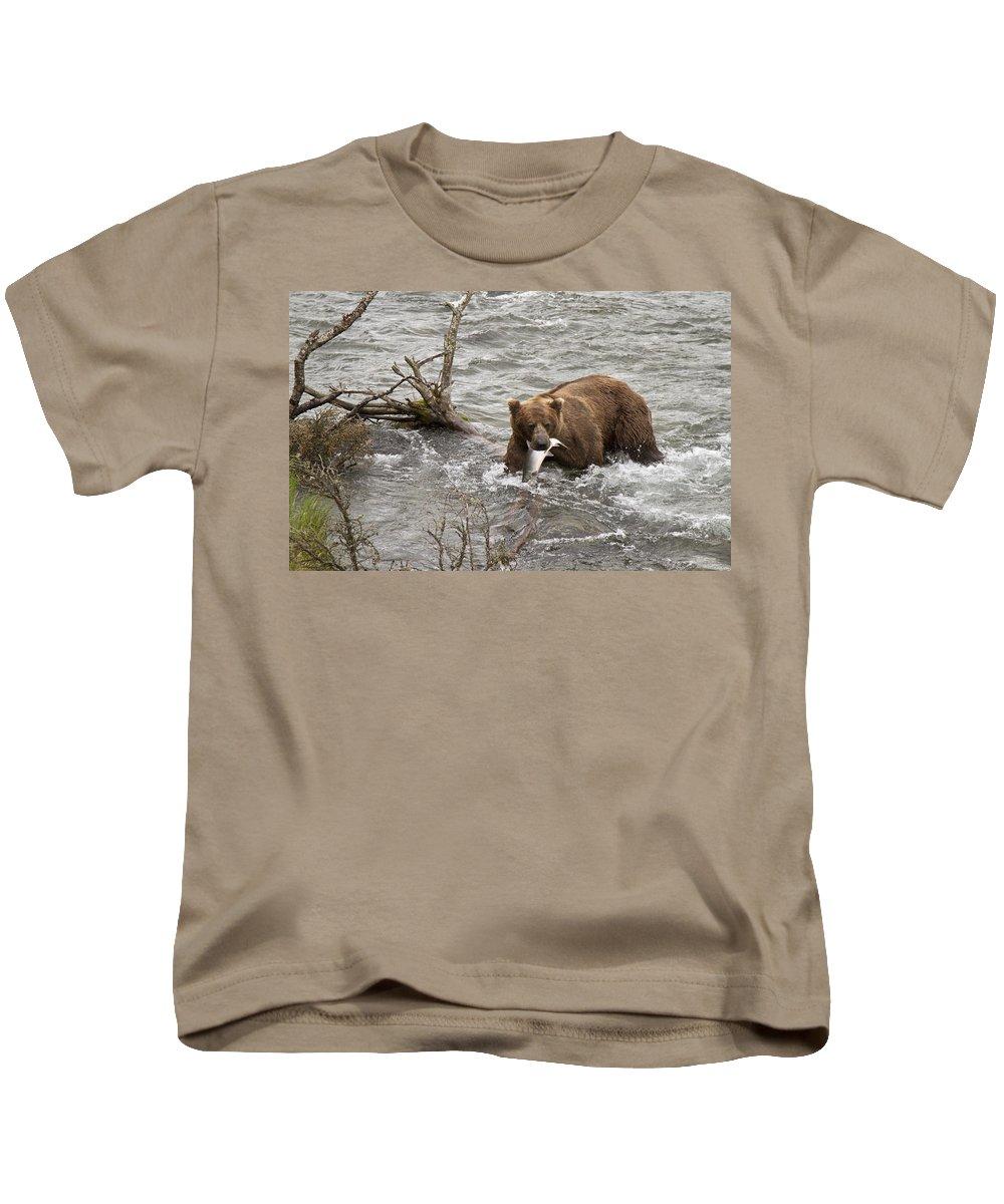 Alaska Kids T-Shirt featuring the photograph Alaskan Grizzly by Dee Carpenter