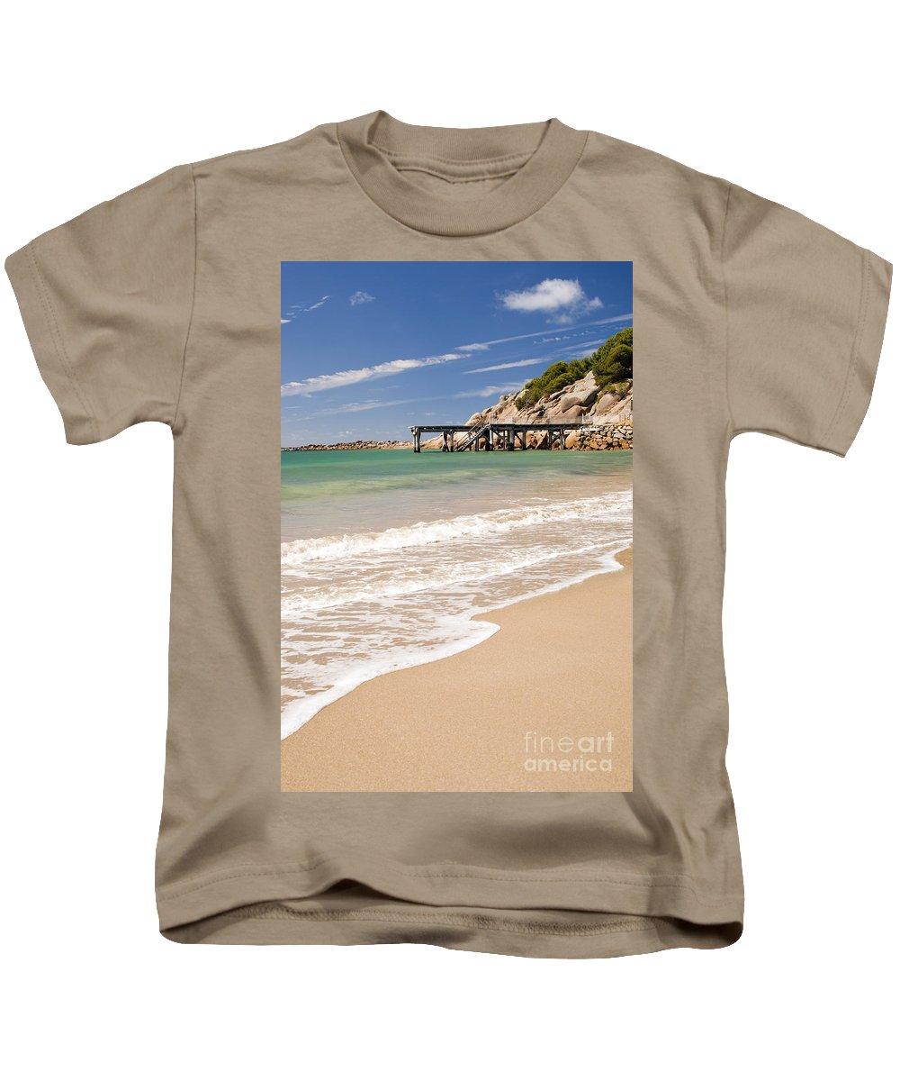 South Australia Kids T-Shirt featuring the photograph Australian Beach by Tim Hester