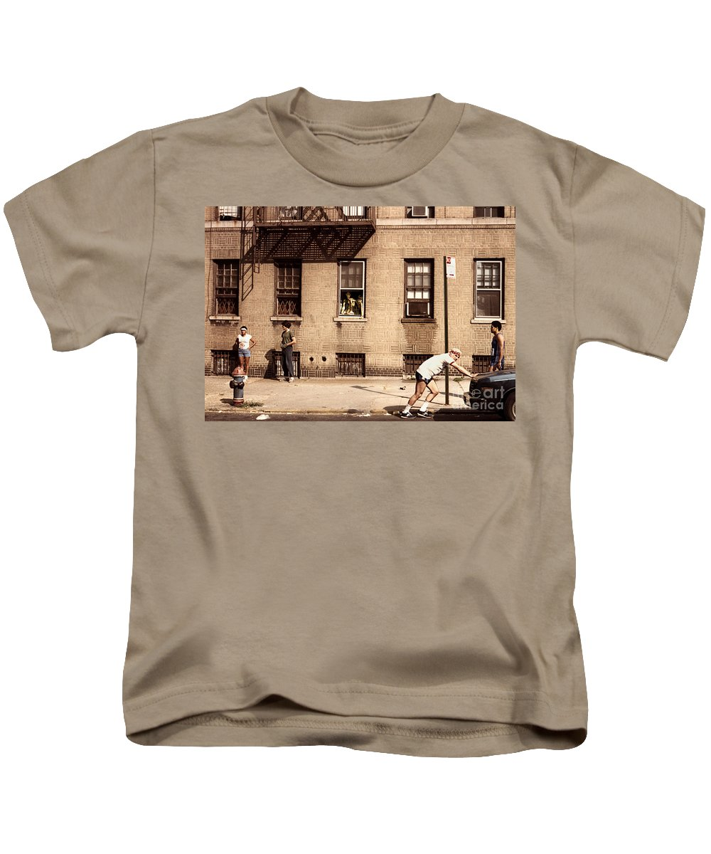 Race Kids T-Shirt featuring the photograph Circa 1982 by Madeline Ellis
