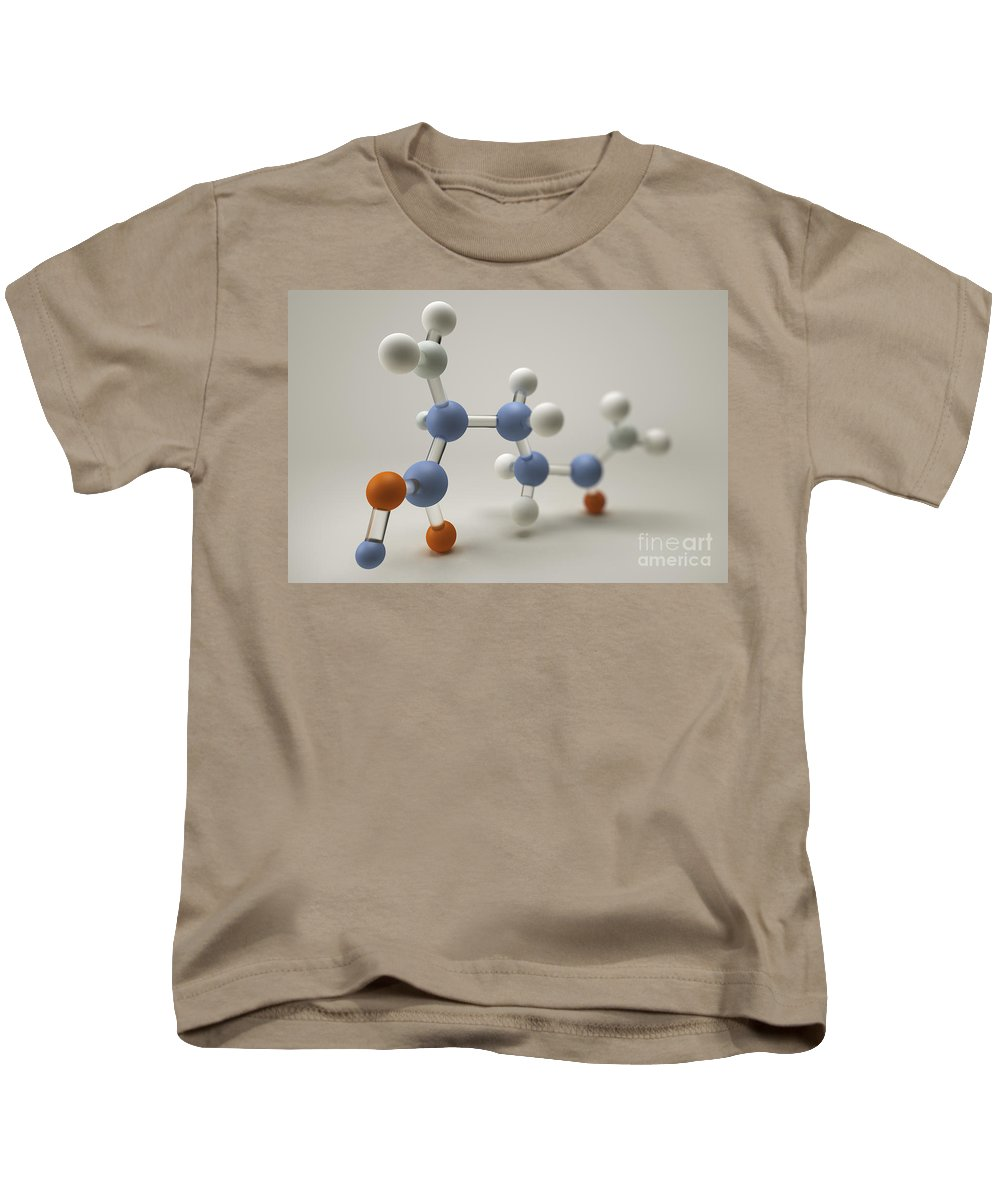 Close-up Kids T-Shirt featuring the photograph Glutamine Molecule by Science Picture Co