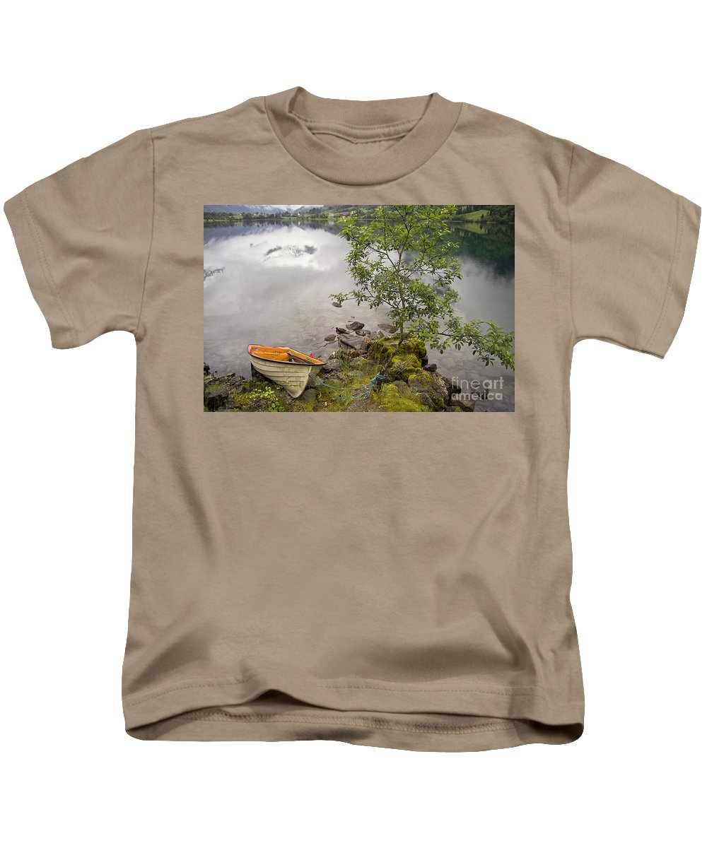 Europe Kids T-Shirt featuring the photograph The Rowing Boat by Heiko Koehrer-Wagner