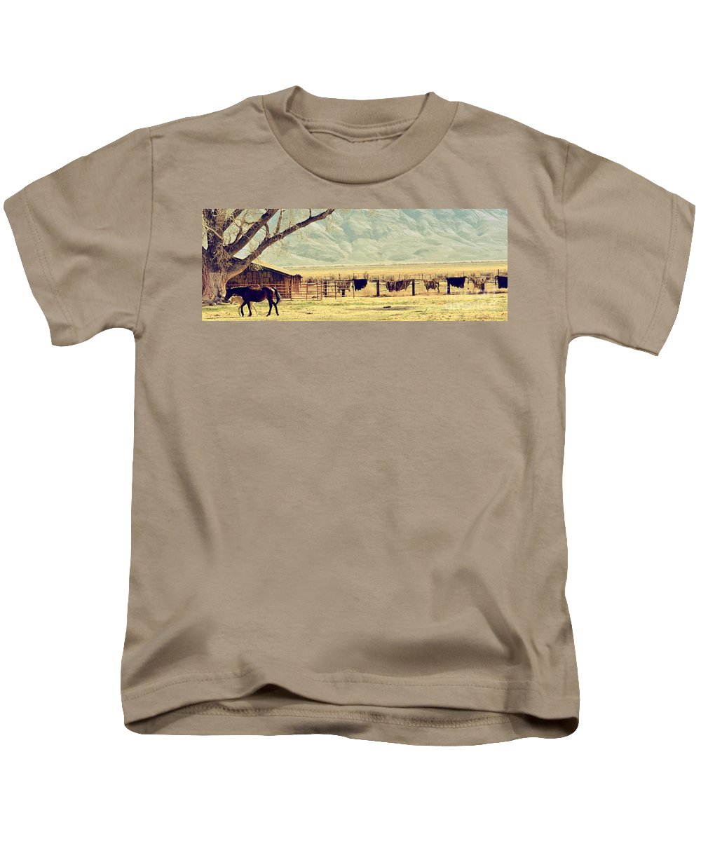 Farm Kids T-Shirt featuring the photograph Walk With Me by Larry Young