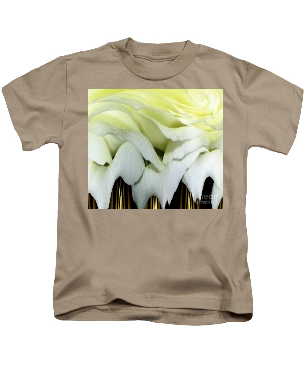 Roses Kids T-Shirt featuring the photograph White Rose Polar Coordinates by Rose Santuci-Sofranko