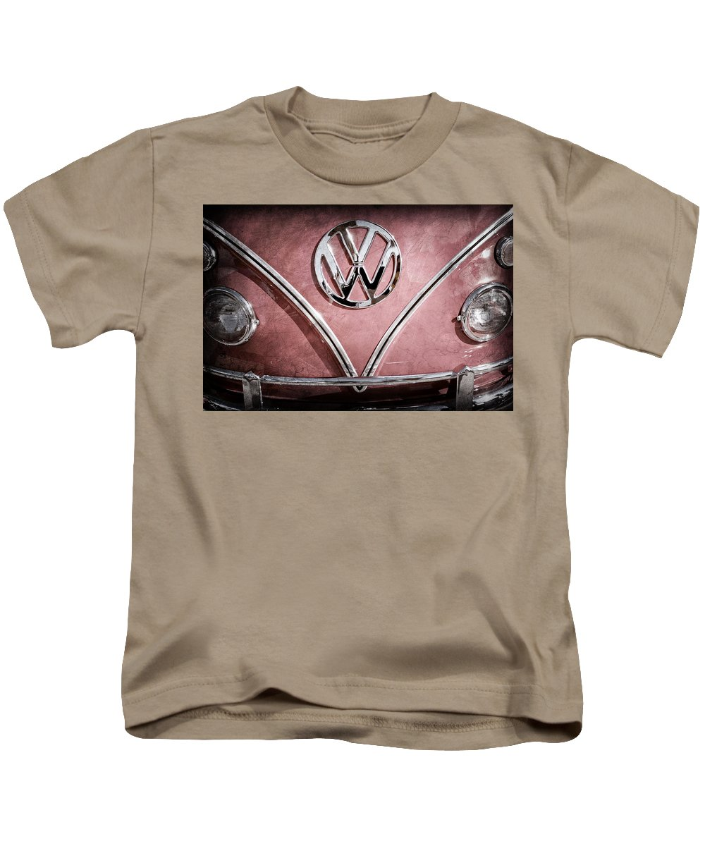 1964 Volkswagen Vw Double Cab Emblem Kids T-Shirt featuring the photograph 1964 Volkswagen Vw Double Cab Emblem by Jill Reger