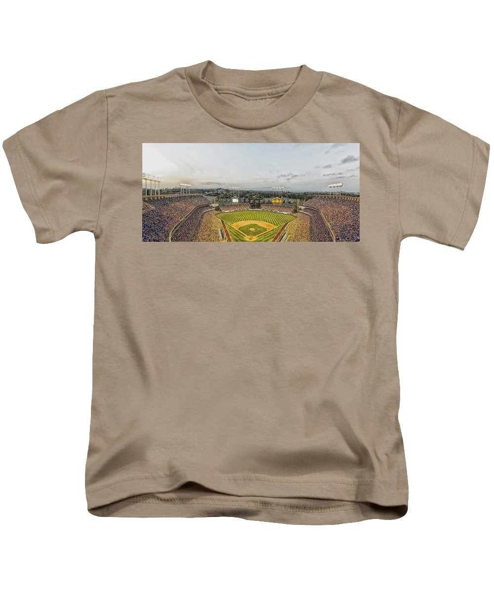 Dodger Stadium Kids T-Shirt featuring the photograph Home Of The Dodgers by Mountain Dreams