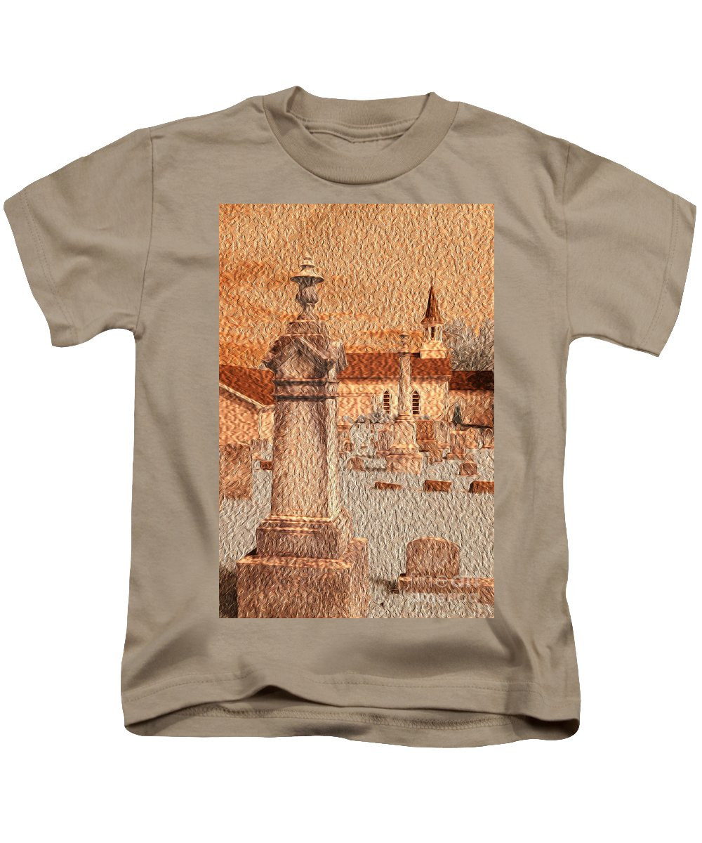 Church Kids T-Shirt featuring the photograph 3 Points by Paul W Faust - Impressions of Light