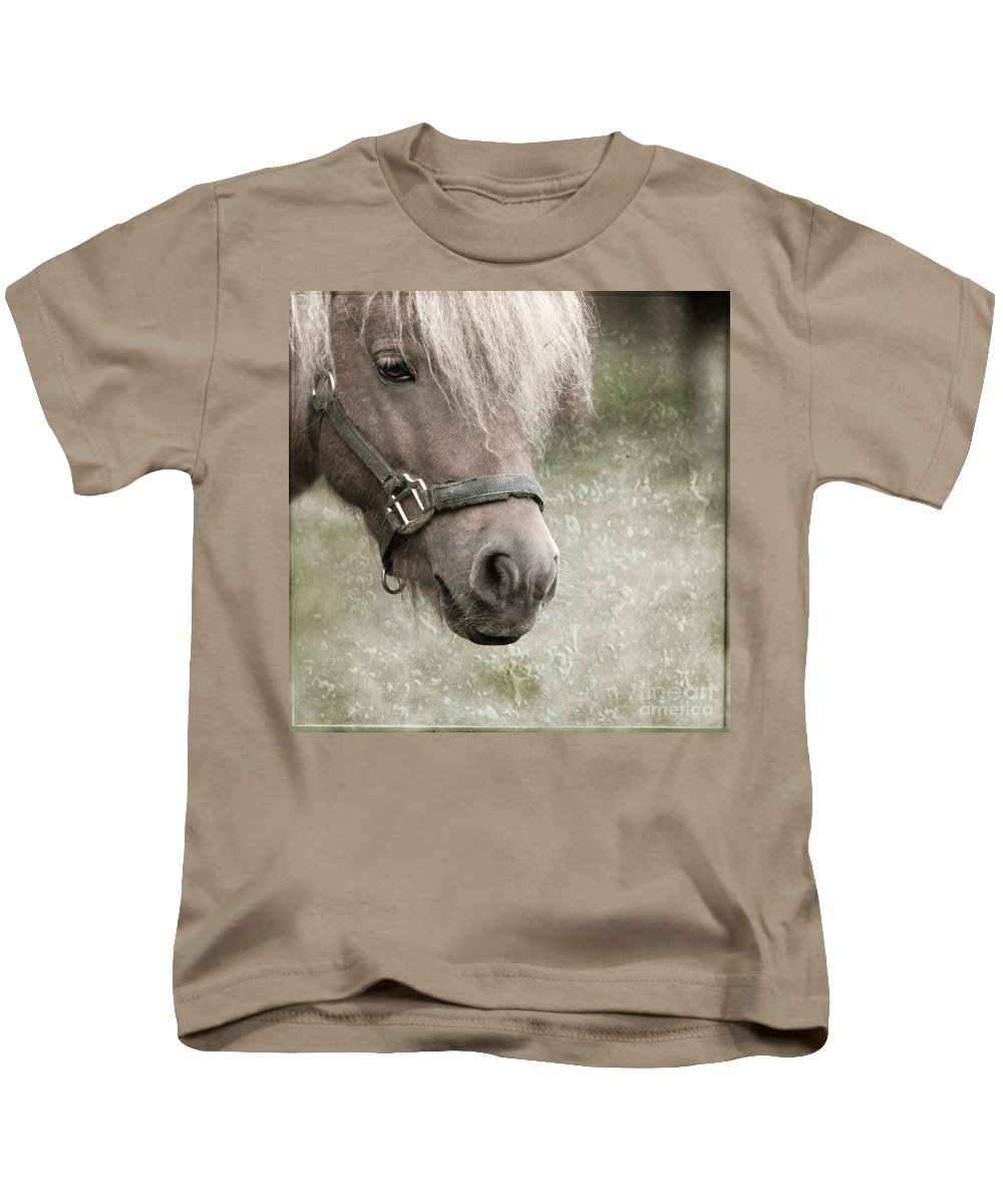 Horse Kids T-Shirt featuring the photograph The Look by Angel Ciesniarska