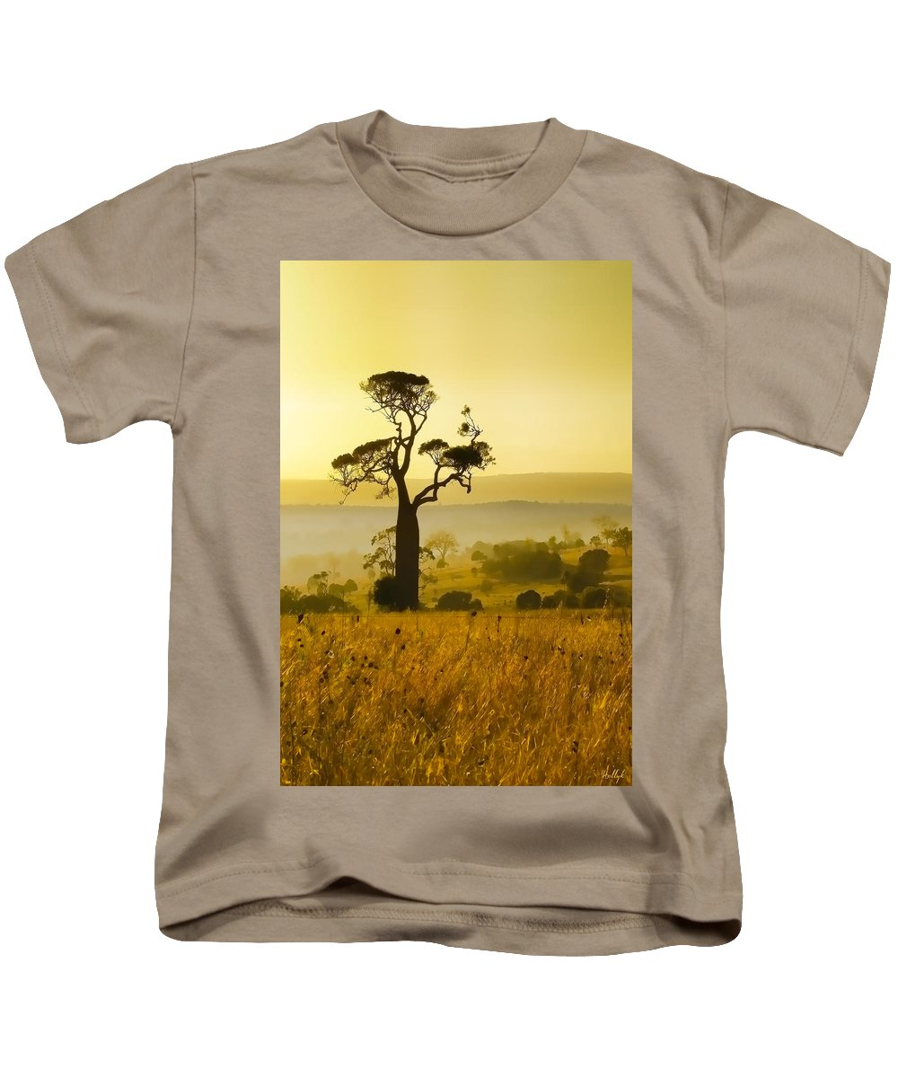 Landscapes Kids T-Shirt featuring the photograph A Boab Sunrise by Holly Kempe