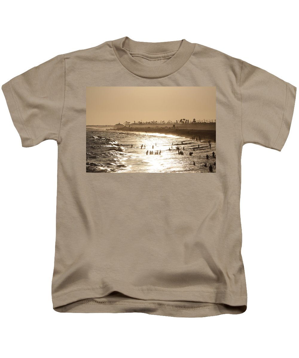 Landscape Kids T-Shirt featuring the photograph A Day At The Beach by Shoal Hollingsworth