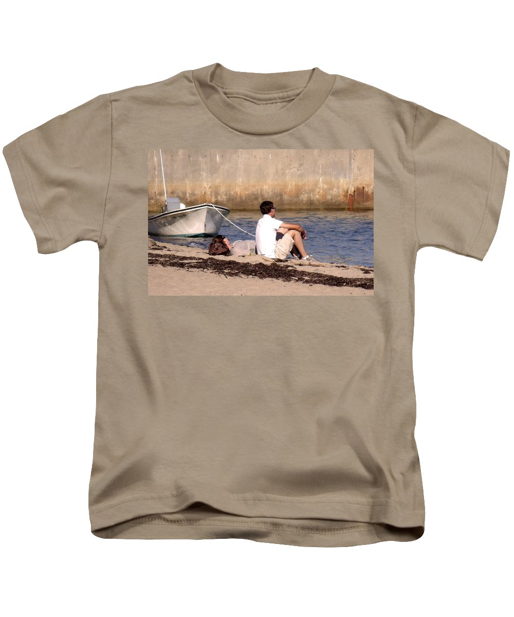Beaches Kids T-Shirt featuring the photograph A Peaceful Day At Provincetown by Marilyn Holkham