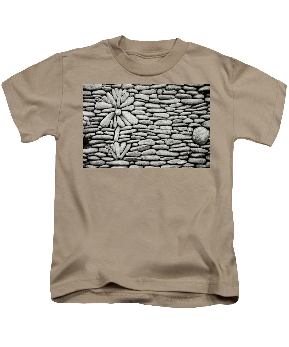 Bali Kids T-Shirt featuring the photograph A Plant In The Wall by Shaun Higson