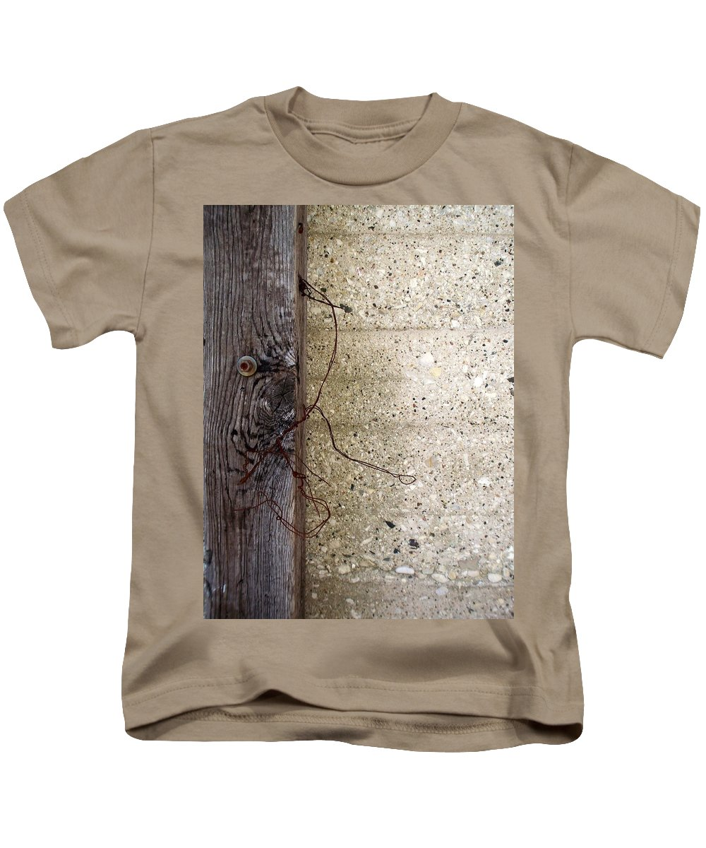 Industrial. Urban Kids T-Shirt featuring the photograph Abstract Concrete 11 by Anita Burgermeister
