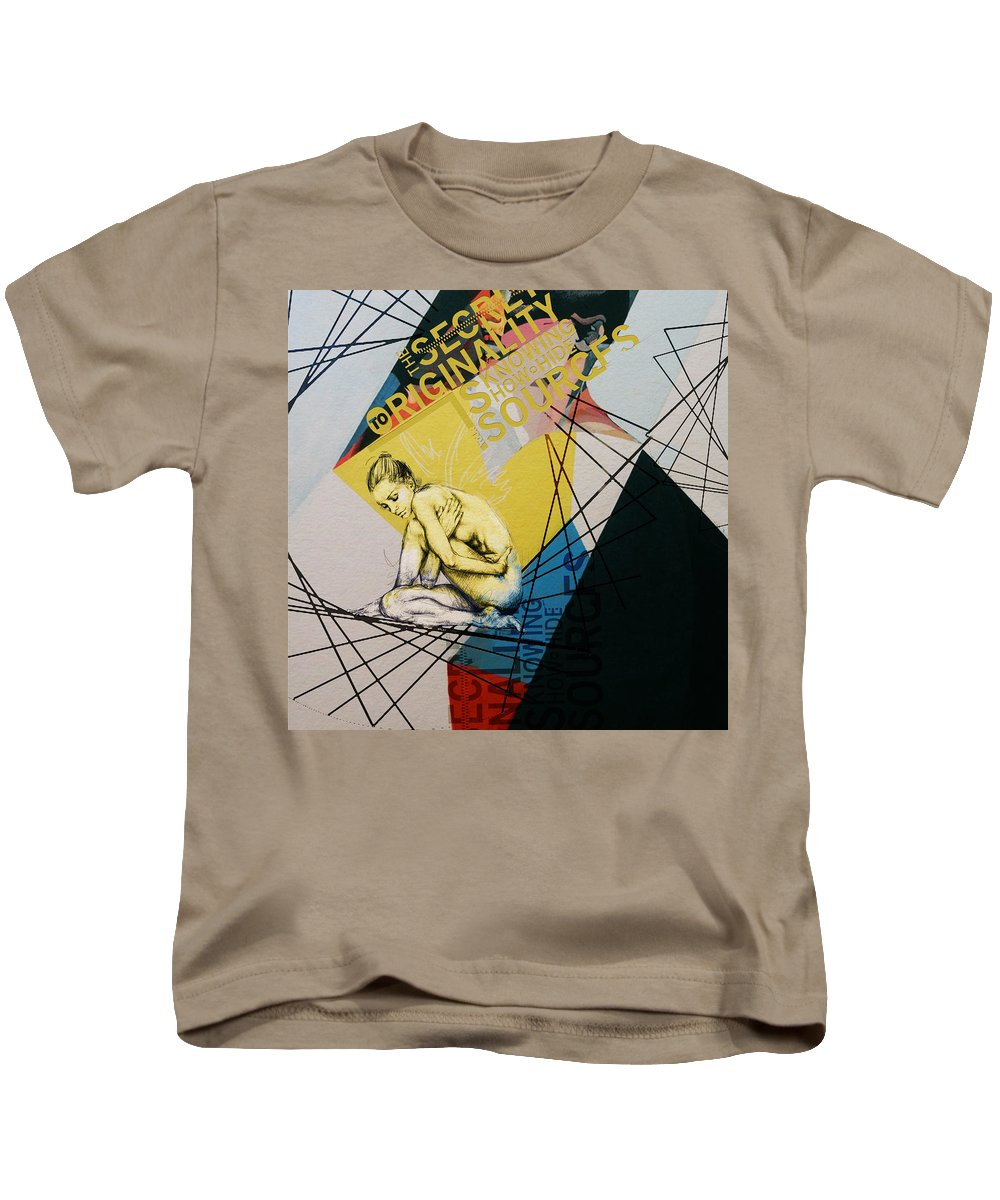 Women Kids T-Shirt featuring the painting Abstract Women 021 by Corporate Art Task Force