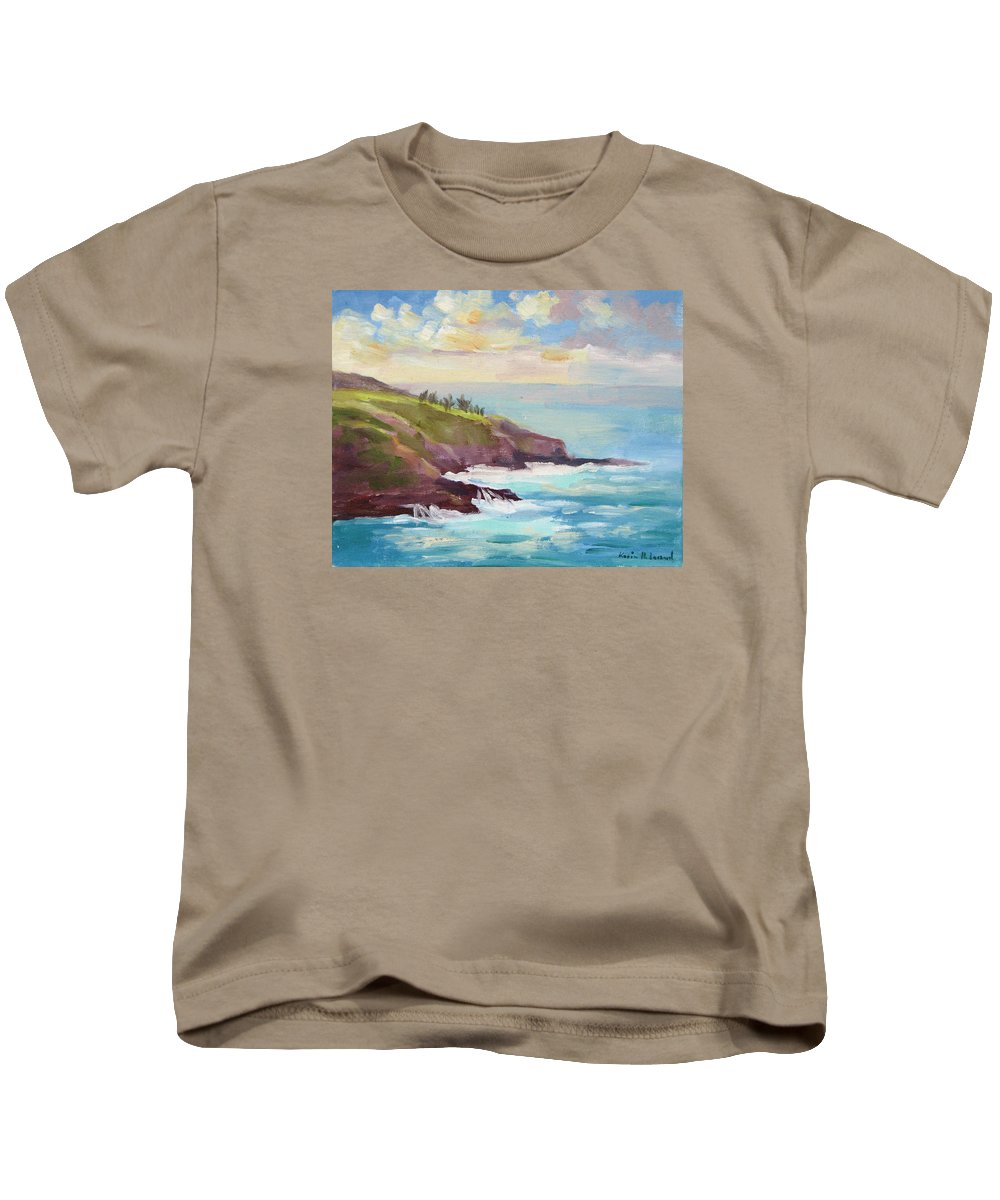Hawaii Kids T-Shirt featuring the painting After The Storm Maui by Karin Leonard