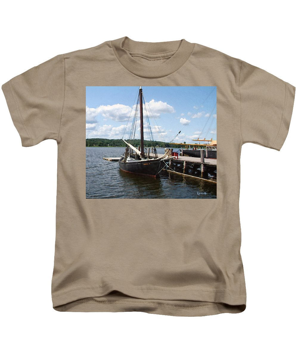 Landscape Kids T-Shirt featuring the painting All Tied Up by RC DeWinter