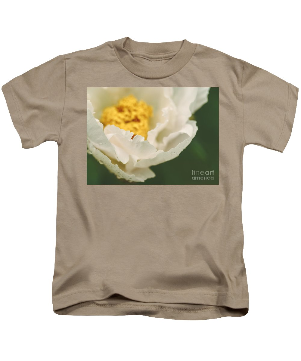 Peony Kids T-Shirt featuring the photograph Almost White by Mary Smyth