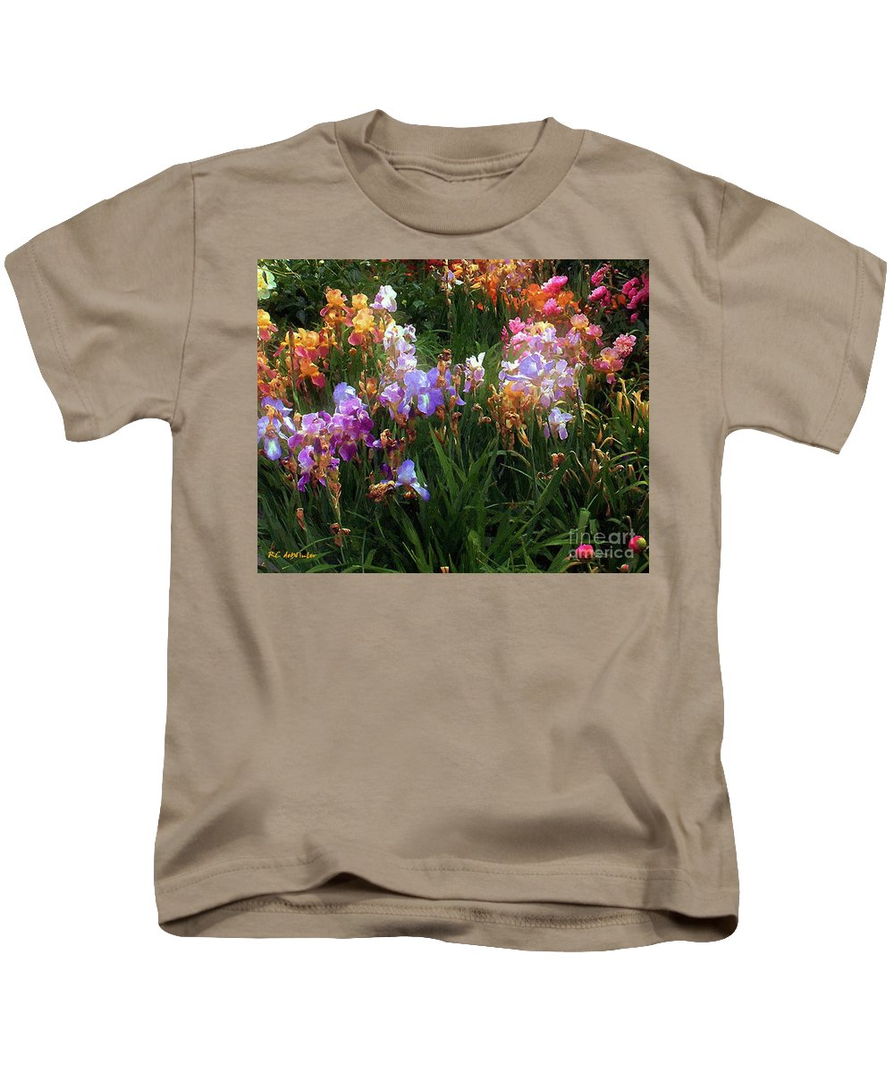 Flowers. Garden Kids T-Shirt featuring the painting American Giverny by RC DeWinter