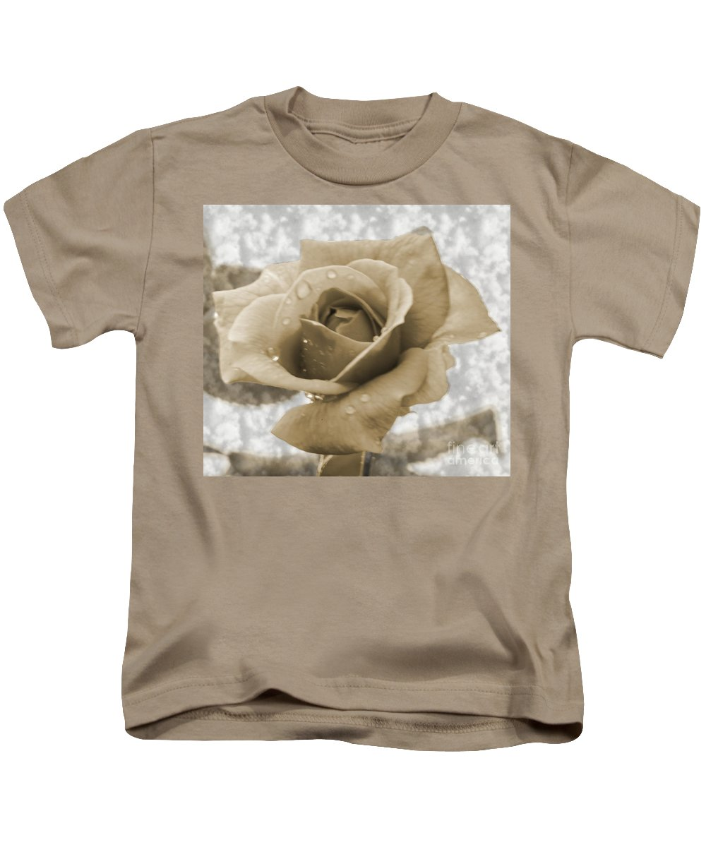 Rose Kids T-Shirt featuring the photograph An Old Fashion Rose by Donna Brown
