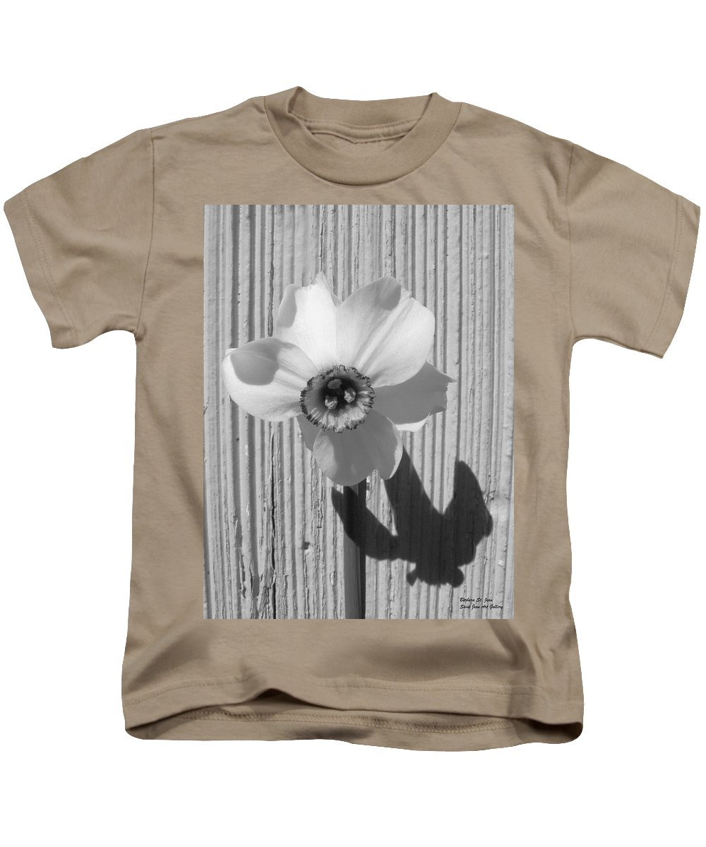 White Kids T-Shirt featuring the photograph Angel Eyes Narcissus by Barbara St Jean