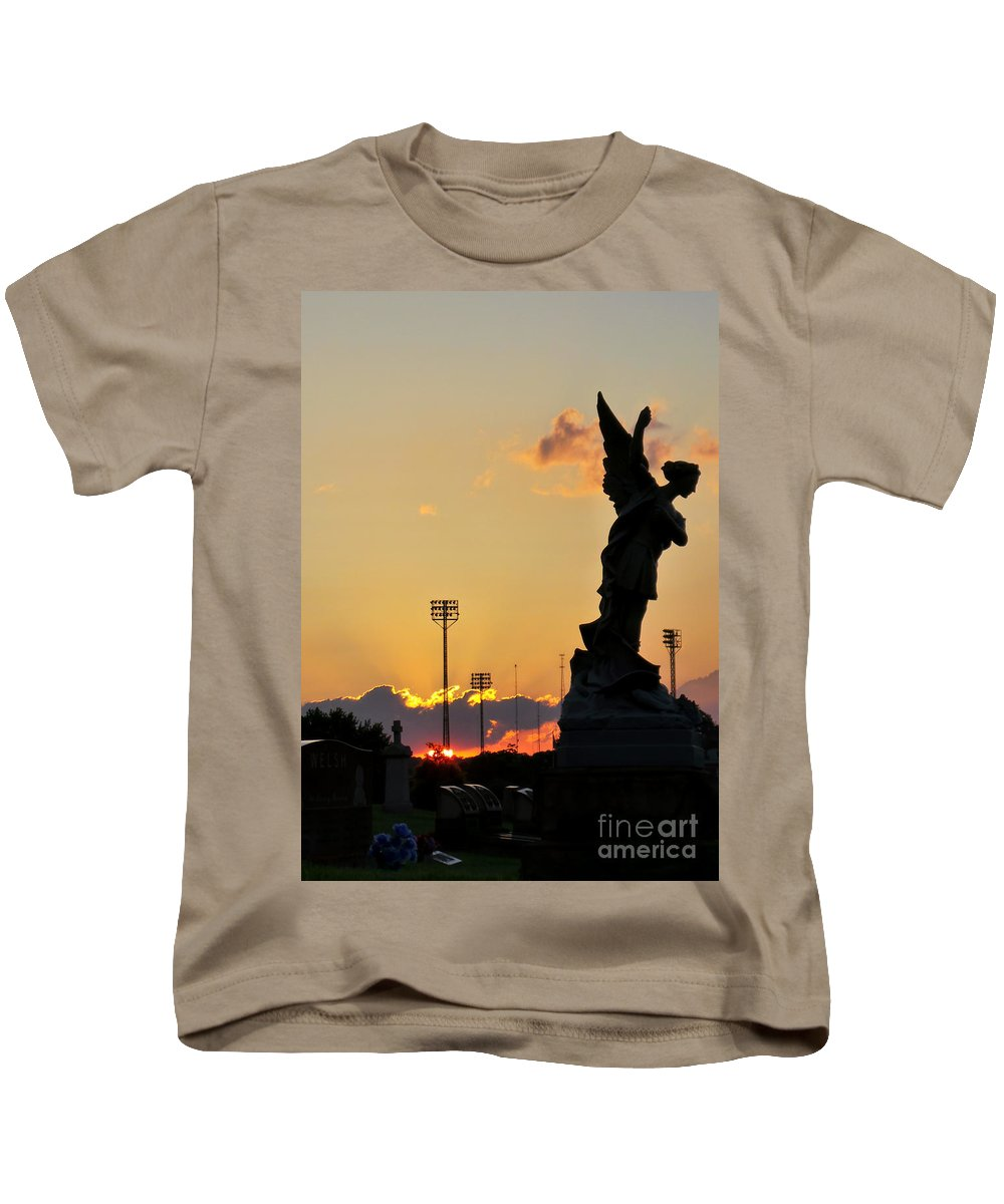 Sky Kids T-Shirt featuring the photograph Angels Never Sleep by Charlie Cliques