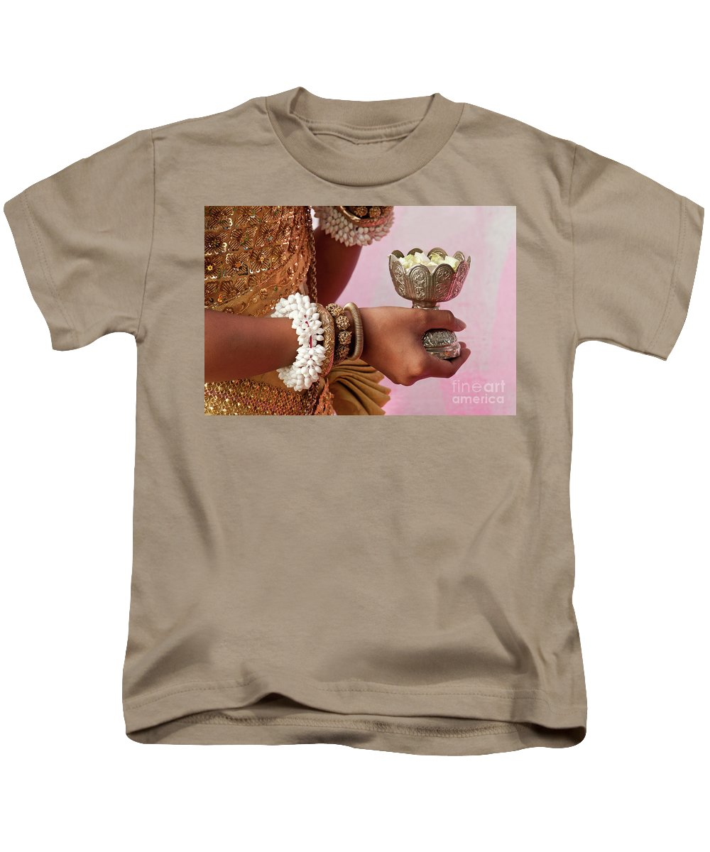 Cambodia Kids T-Shirt featuring the photograph Apsara Dancer 01 by Rick Piper Photography
