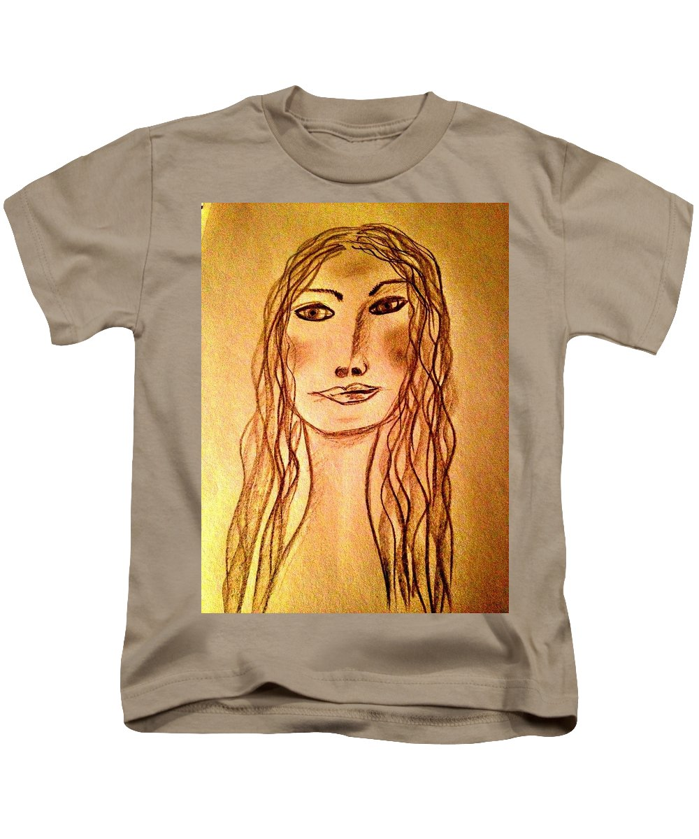Woman Kids T-Shirt featuring the photograph Art Therapy 187 by Michele Monk