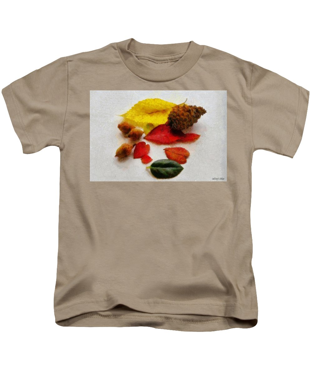 Acorn Kids T-Shirt featuring the painting Autumn Medley by Jeffrey Kolker