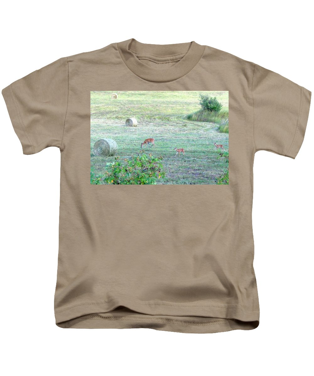 Doe Kids T-Shirt featuring the photograph Bambi And The Twins by Will Borden