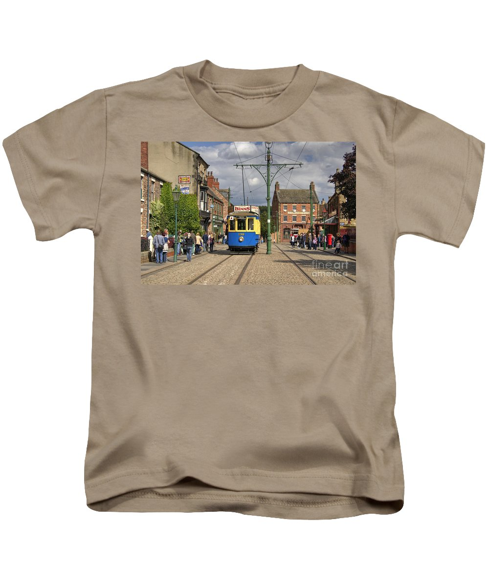 Tram Kids T-Shirt featuring the photograph Beamish Tram by Rob Hawkins
