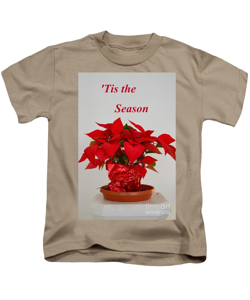 Poinsettia.mexico Kids T-Shirt featuring the photograph Beautiful Poinsettia Plant - No 2 by Mary Deal