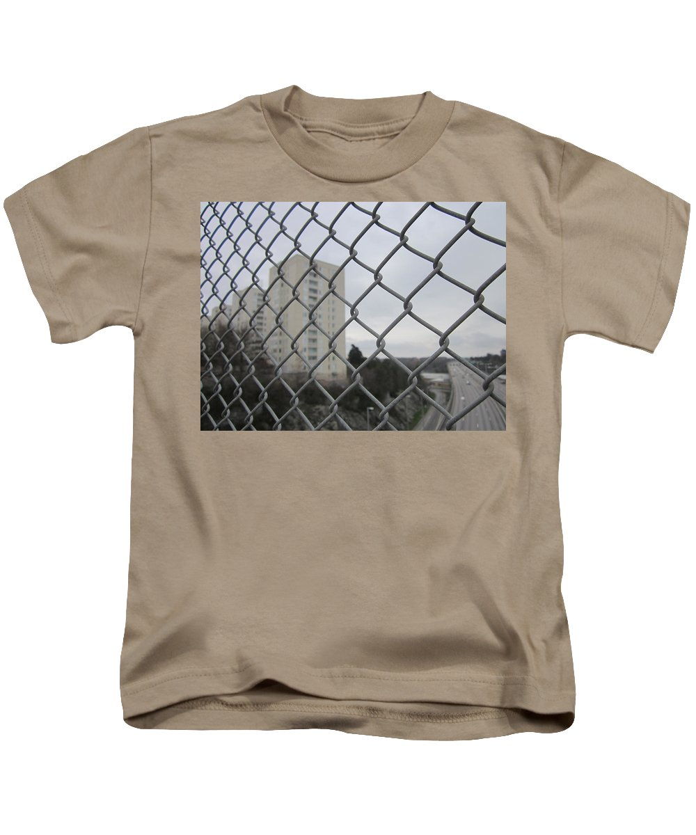 Greayweather Kids T-Shirt featuring the photograph Behind Bars by Rosita Larsson