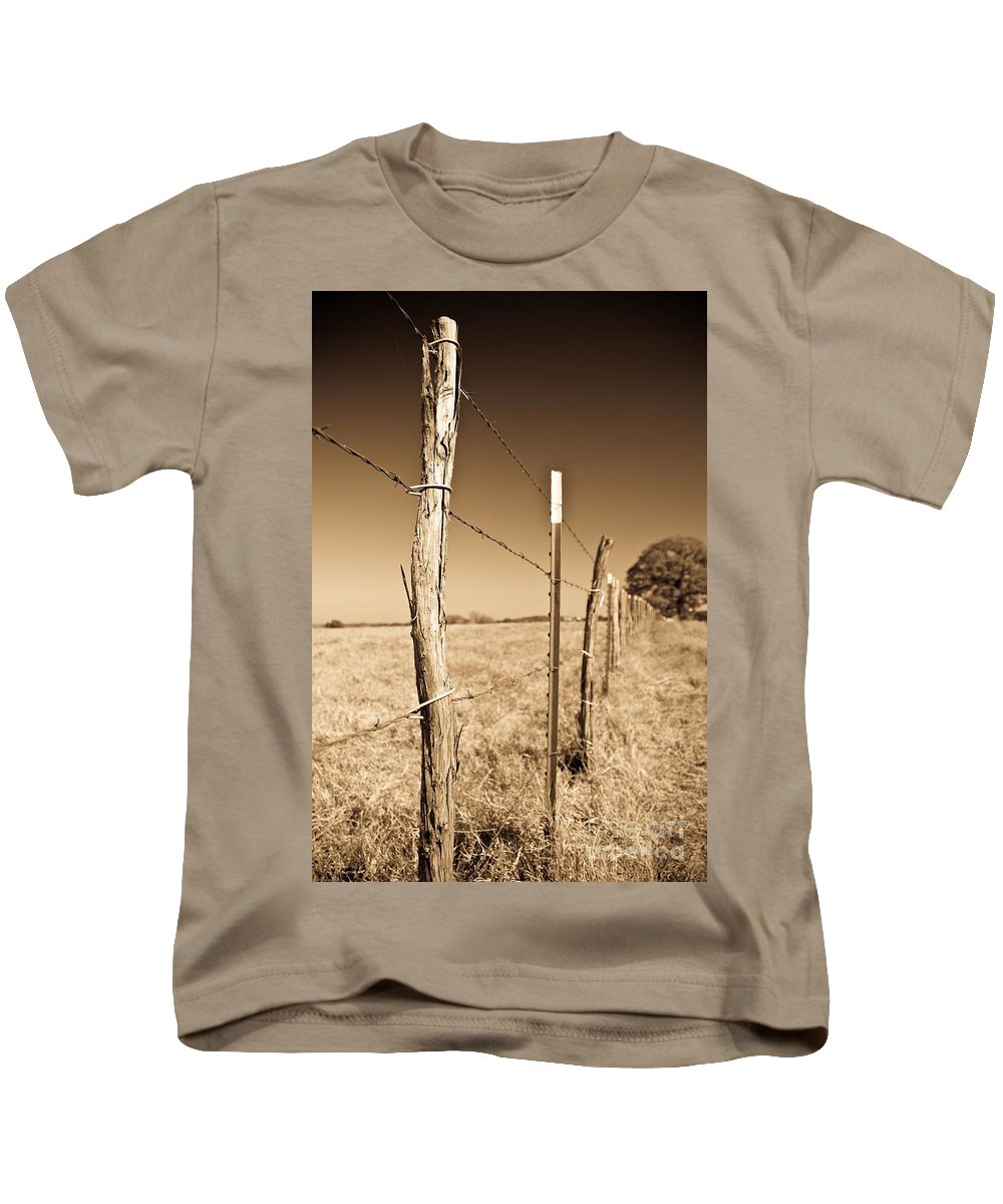 Borders Kids T-Shirt featuring the photograph Borders by Charles Dobbs