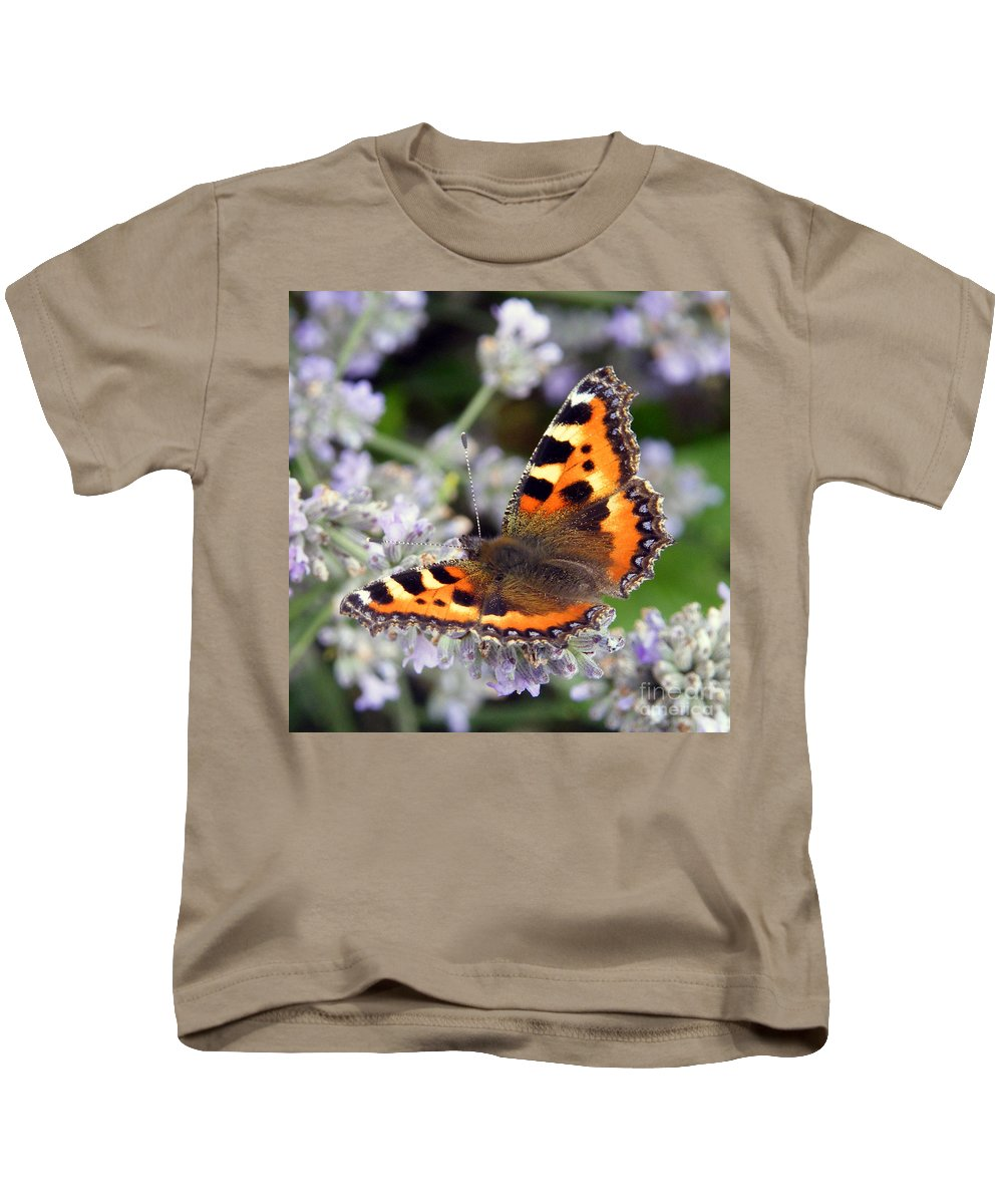 Red Admiral Butterfly Kids T-Shirt featuring the photograph 10088 Small Tortoiseshell Butterfly by Colin Hunt