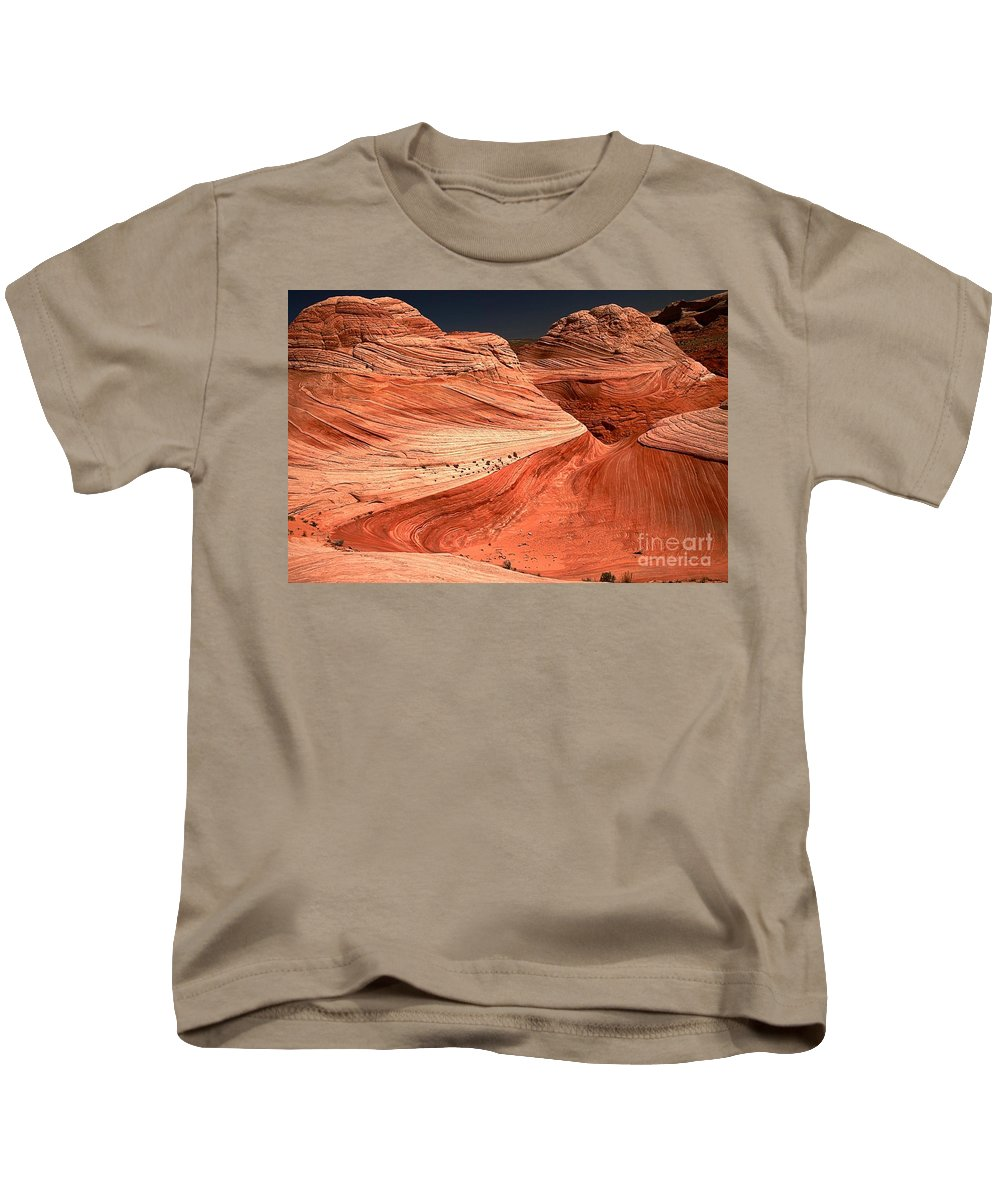 Coyote Buttes Kids T-Shirt featuring the photograph Candyland Canyons by Adam Jewell