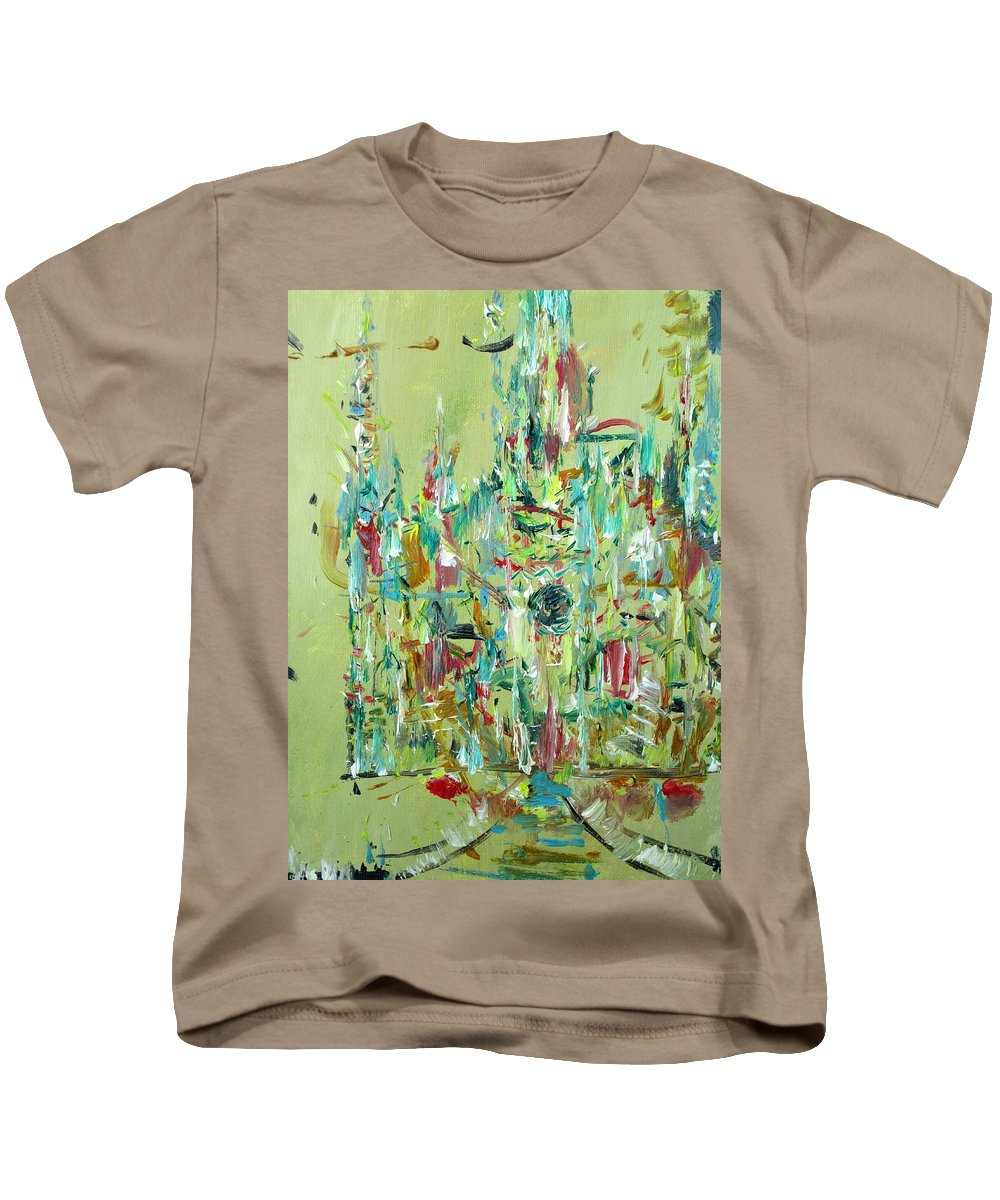 Cathedral Kids T-Shirt featuring the painting Cathedral by Fabrizio Cassetta