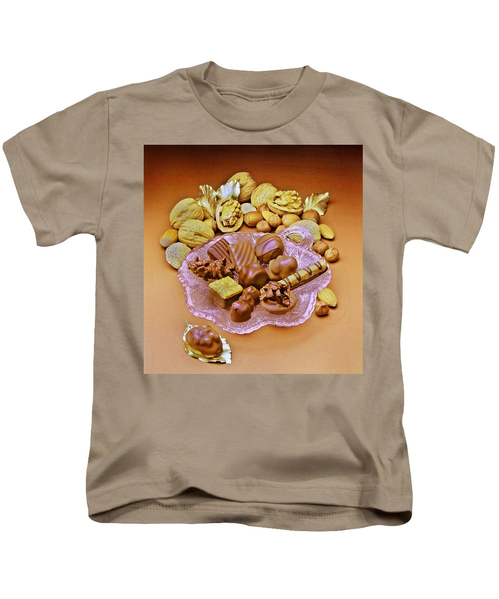Schocolates Kids T-Shirt featuring the photograph Cchocolates And Sweets by Manfred Lutzius