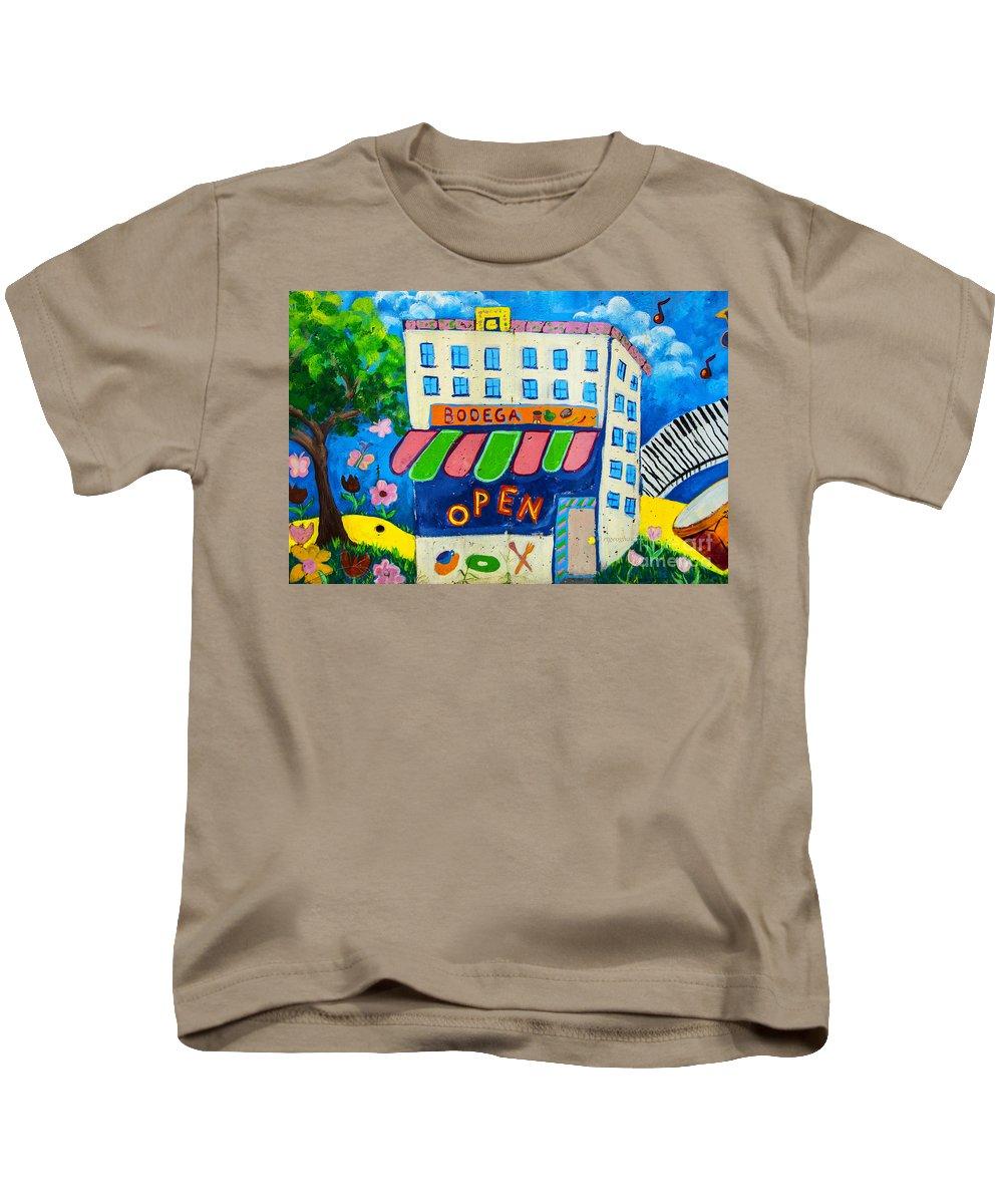 Hoboken Community Art Project Kids T-Shirt featuring the photograph Celebration Hoboken #3 by Regina Geoghan
