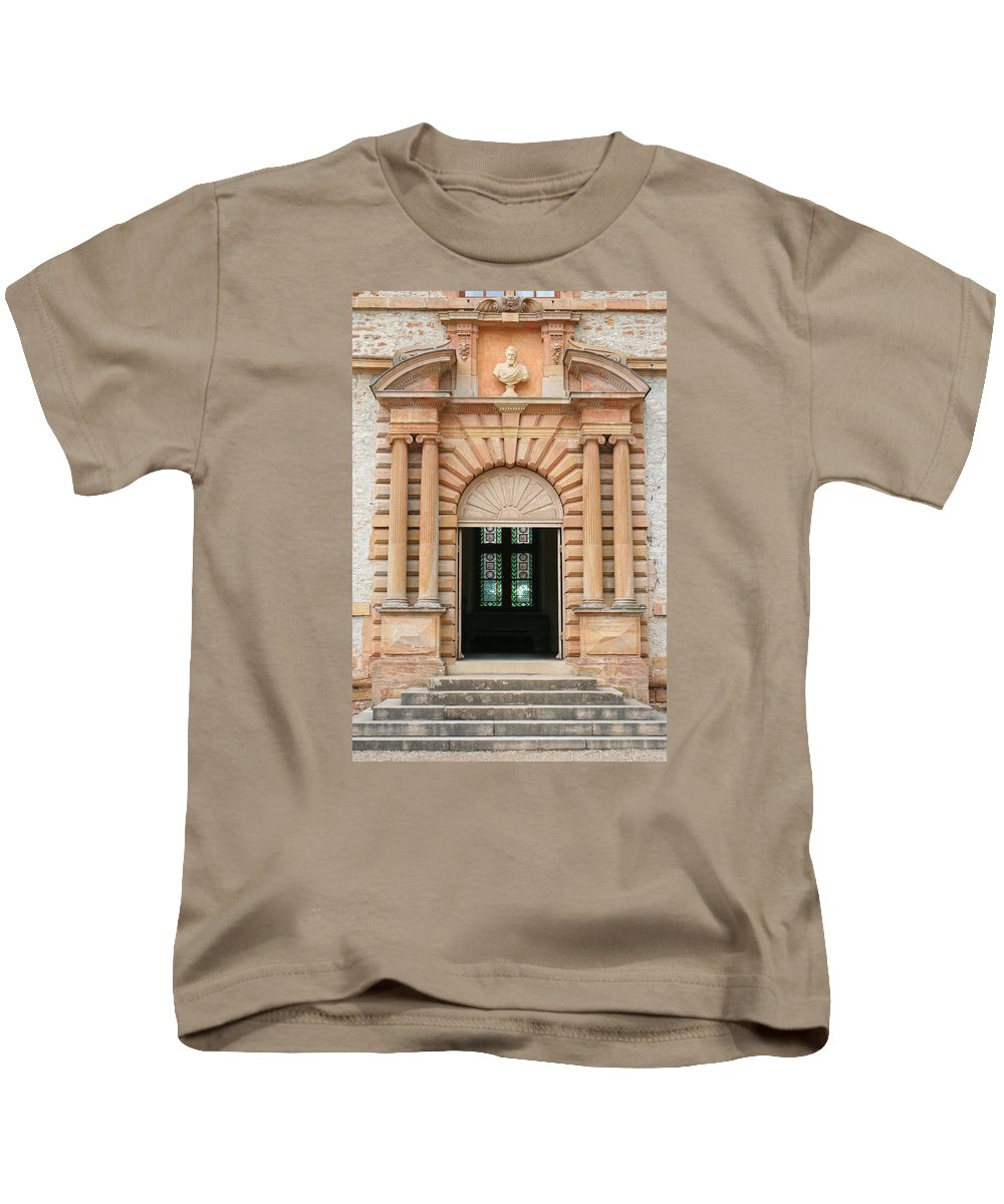 Entrance Kids T-Shirt featuring the photograph Chateau De Cormatin Entrance by Christiane Schulze Art And Photography