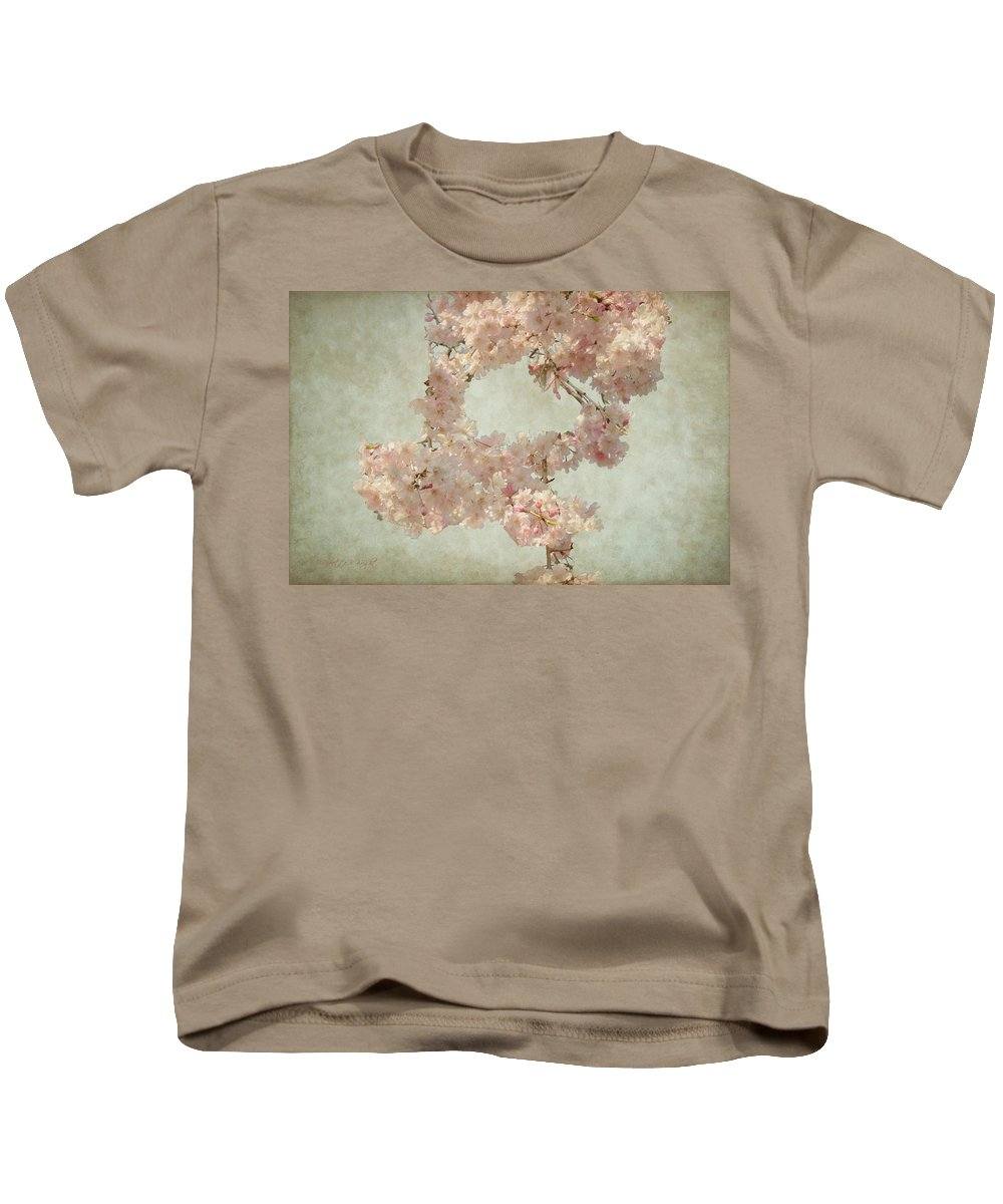 Popular Kids T-Shirt featuring the photograph Cherry Blossom Bridal Bouquet by Paulette B Wright