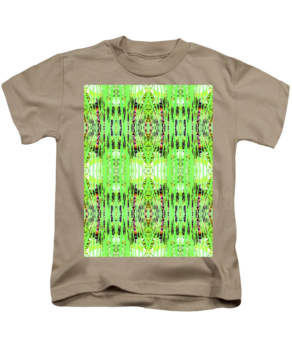 Abstract Kids T-Shirt featuring the photograph Chive Abstract Green by Barbara Moignard