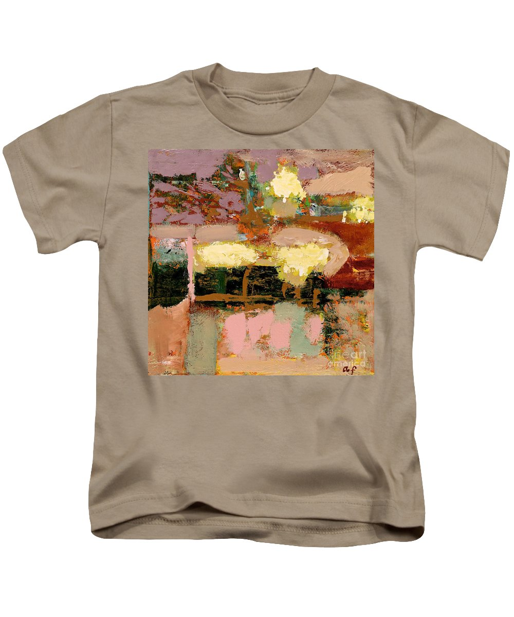 Landscape Kids T-Shirt featuring the painting Chopped Liver by Allan P Friedlander