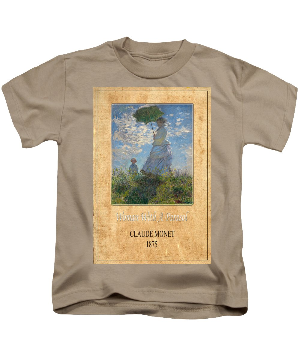 Claude Monet Kids T-Shirt featuring the photograph Claude Monet 1 by Andrew Fare