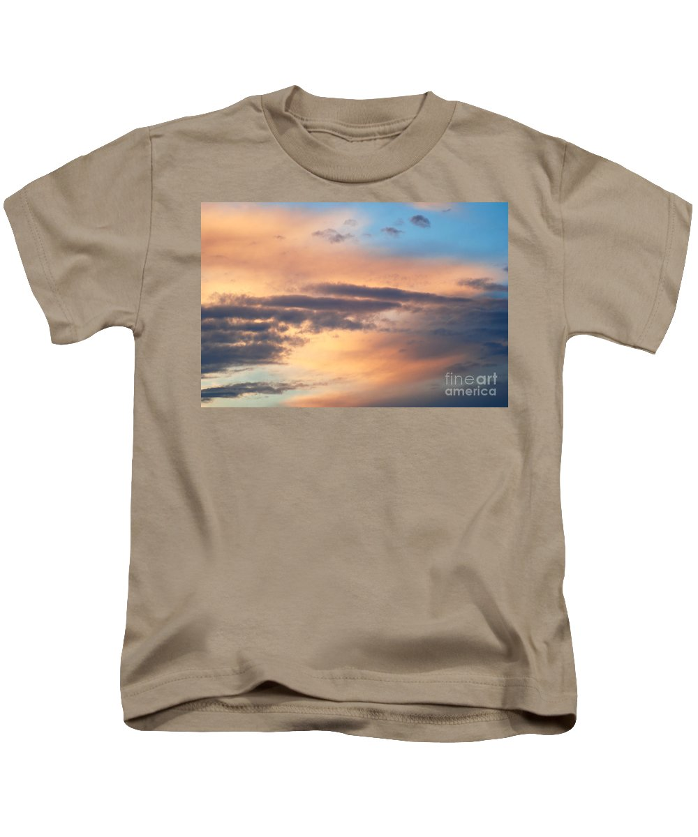 Blue Sky Kids T-Shirt featuring the photograph Clouds by Optical Playground By MP Ray